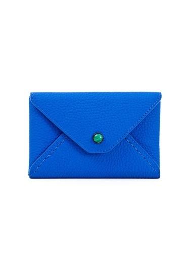 Madame Malachite Mini Zarf Malahit Taşlı  Mavi